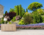Gardens at Gordes, Provence wall mural living room preview