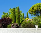 Gardens at Gordes, Provence wall mural in-room view