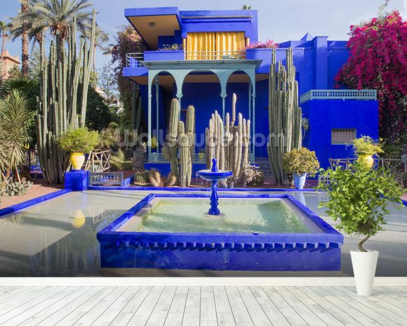Le Jardin Majorelle, Marrakech wallpaper mural room setting
