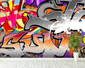 Urban Graffiti Art wall mural in-room view