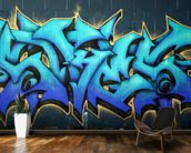 Graffiti mural wallpaper kitchen preview