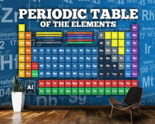 Periodic Table of Elements mural wallpaper