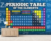 Periodic Table of Elements mural wallpaper living room preview