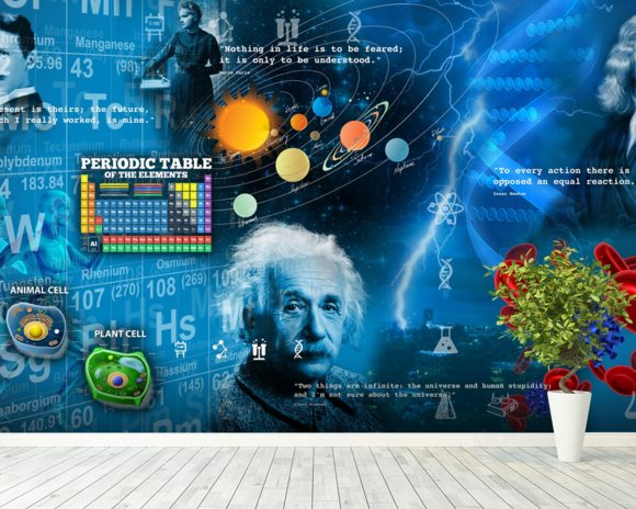 Amazing Science - customised versions available wall mural room setting