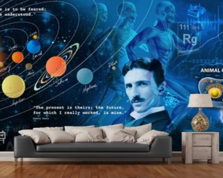Amazing Science Panoramic - customised versions available wallpaper mural