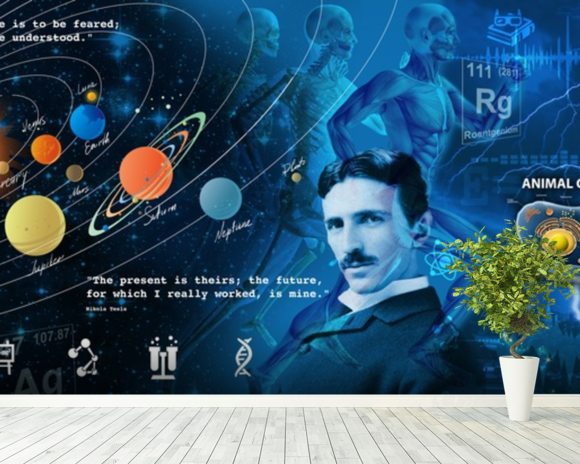 Amazing Science Panoramic - customised versions available wallpaper mural room setting
