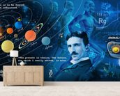 Amazing Science Panoramic - customised versions available wallpaper mural living room preview