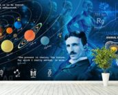 Amazing Science Panoramic - customised versions available wallpaper mural in-room view