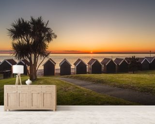 Beach Huts Wall Mural Wall Murals Wallpaper