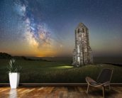 Medieval Lighthouse Next to The Milky Way wall mural kitchen preview
