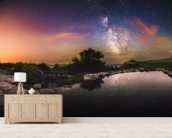 Milky Way Reflection wallpaper mural living room preview