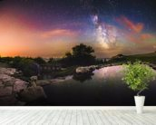 Milky Way Reflection wallpaper mural in-room view