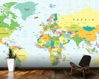 World map wallpaper wall murals wallsauce usa detailed world map gumiabroncs Gallery