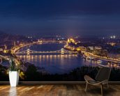 Budapest at Night mural wallpaper kitchen preview