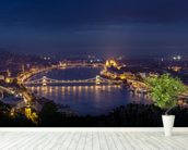 Budapest at Night mural wallpaper in-room view