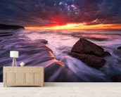 Flow wall mural living room preview