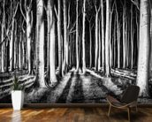 Ghost Forest wall mural kitchen preview