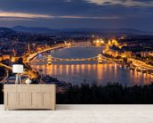 Panorama of Budapest mural wallpaper living room preview