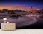 Golden Gate Bridge Fading Daylight wallpaper mural living room preview