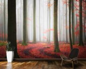 Autumnal Tracks wallpaper mural kitchen preview
