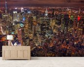 New York Night Life wallpaper mural living room preview