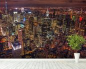 New York Night Life wallpaper mural in-room view