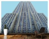 Empire State on Sky Blue mural wallpaper kitchen preview
