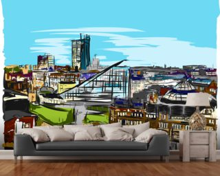 Urbis Skyline mural wallpaper