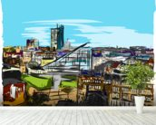 Urbis Skyline mural wallpaper in-room view
