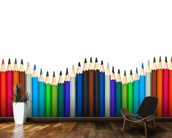 Coloured Pencils wall mural kitchen preview
