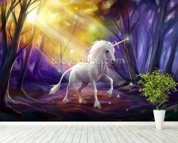 Unicorn Path Wall Mural Wallpaper Wallsauce USA