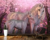 Unicorn Mare and Foal mural wallpaper kitchen preview
