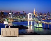 Tokyo Rainbow Bridge wallpaper mural living room preview