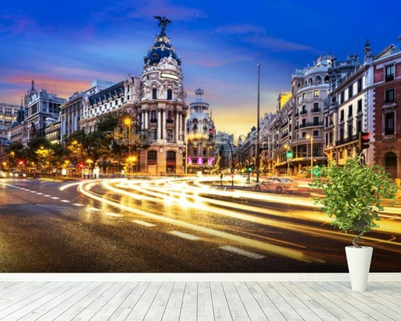 Madrid City Centre wallpaper mural room setting