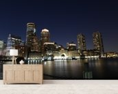 Boston Skyline wall mural living room preview