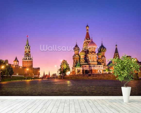 Russia mural wallpaper room setting