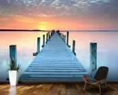 Sunset Jetty wall mural kitchen preview