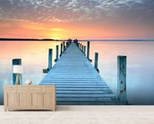 Sunset Jetty wall mural living room preview