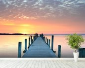 Sunset Jetty wall mural in-room view