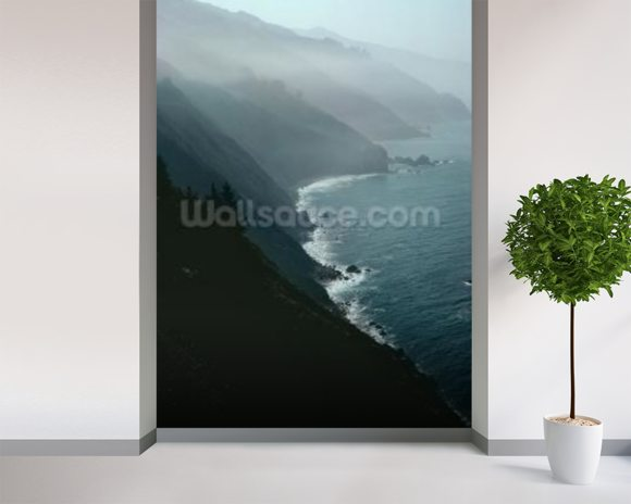 California coastline (photo) wall mural room setting