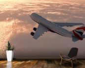 Commercial Airliner mural wallpaper kitchen preview