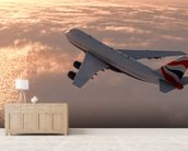 Commercial Airliner mural wallpaper living room preview