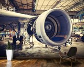 Jet Engine wallpaper mural kitchen preview