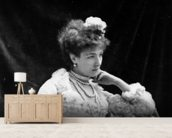 Sarah Bernhardt (b/w photo) wall mural living room preview