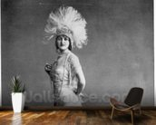 Gaby Deslys (b/w photo) wallpaper mural kitchen preview