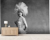 Gaby Deslys (b/w photo) wallpaper mural living room preview