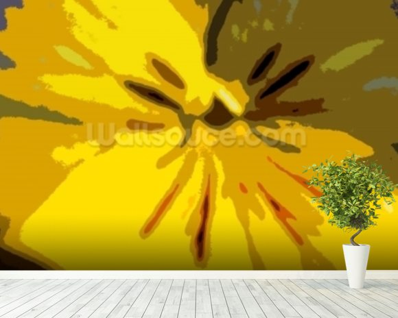 Urban Bloom (colour photo) mural wallpaper room setting