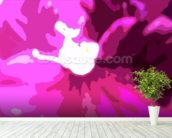 Raspberry Crush (colour photo) wall mural in-room view
