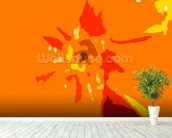 Sunshine Camouflage (colour photo) wallpaper mural in-room view