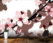 Japanese Blossom (colour photo) wallpaper mural kitchen preview